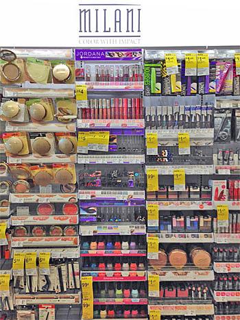 Milani display at Walgreens